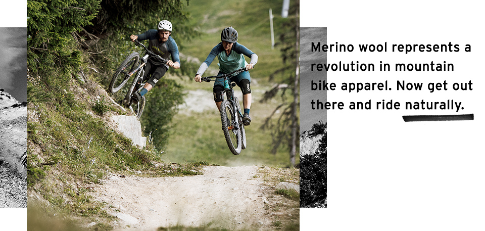 Mountain bikers ride natural with Mons Royale merino mountain bike apparel