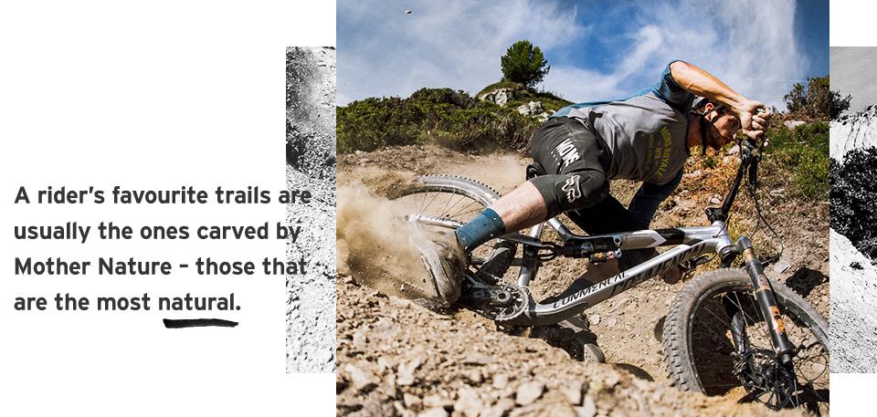 Mountain biker rides natural with Mons Royale merino mountain bike apparel