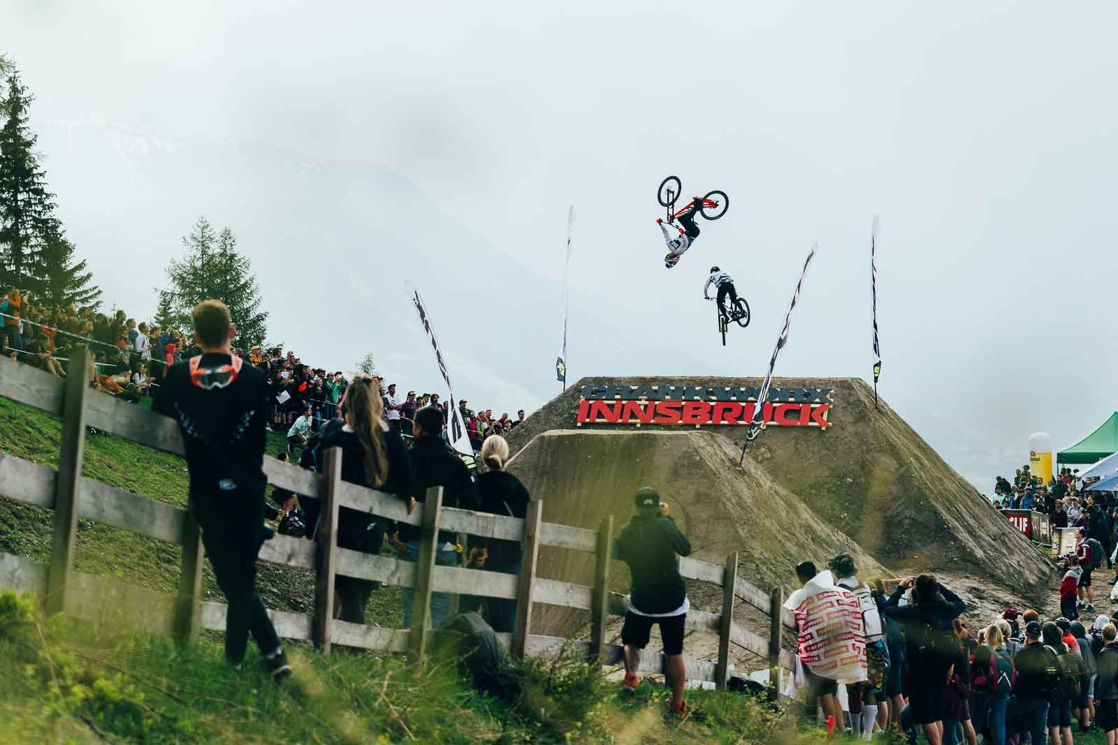 Competitors at the Whip-Off at Crankworx Innsbruck