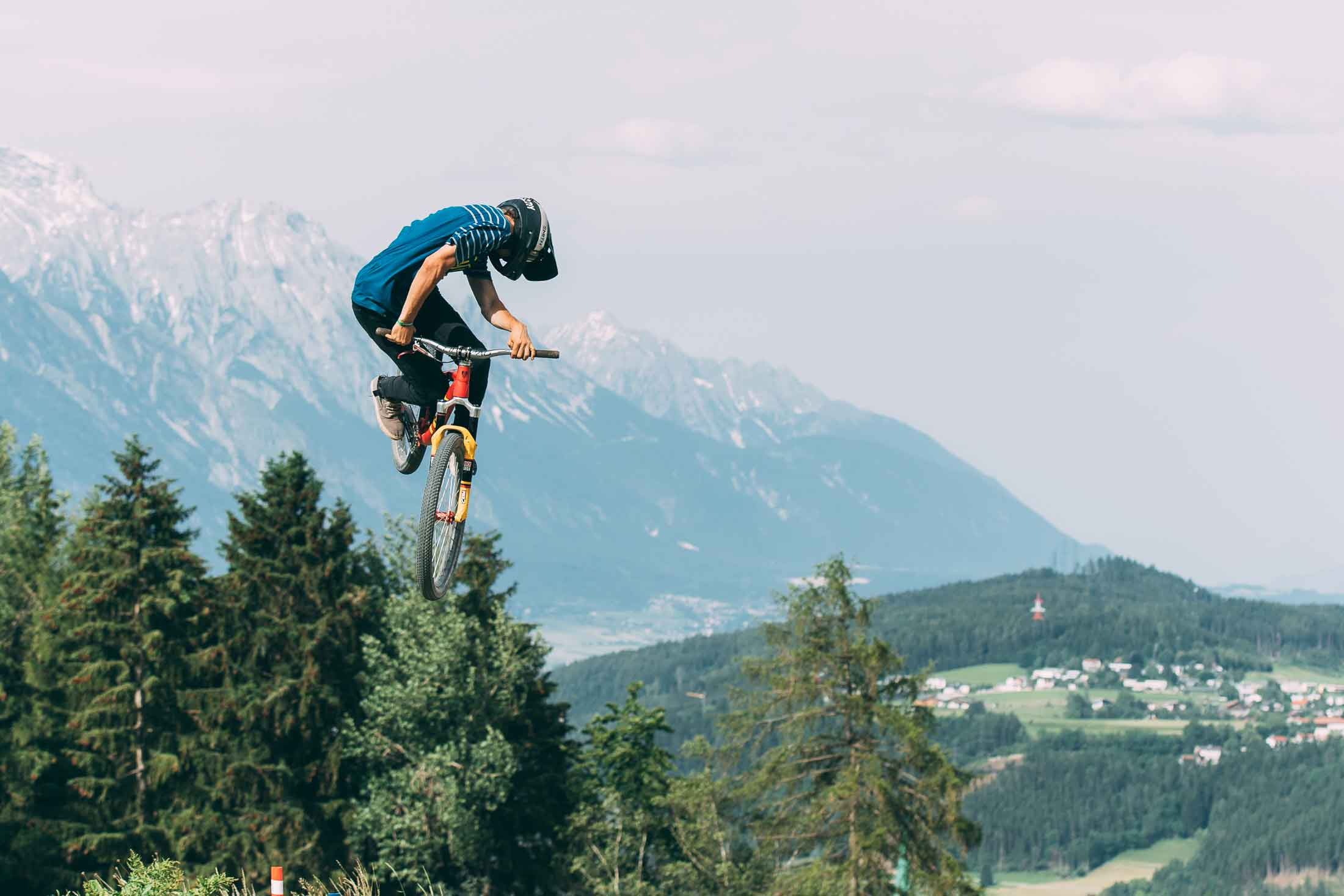 Peter Kaiser at the Mons Royale Speed and Style at Crankworx Innsbruck