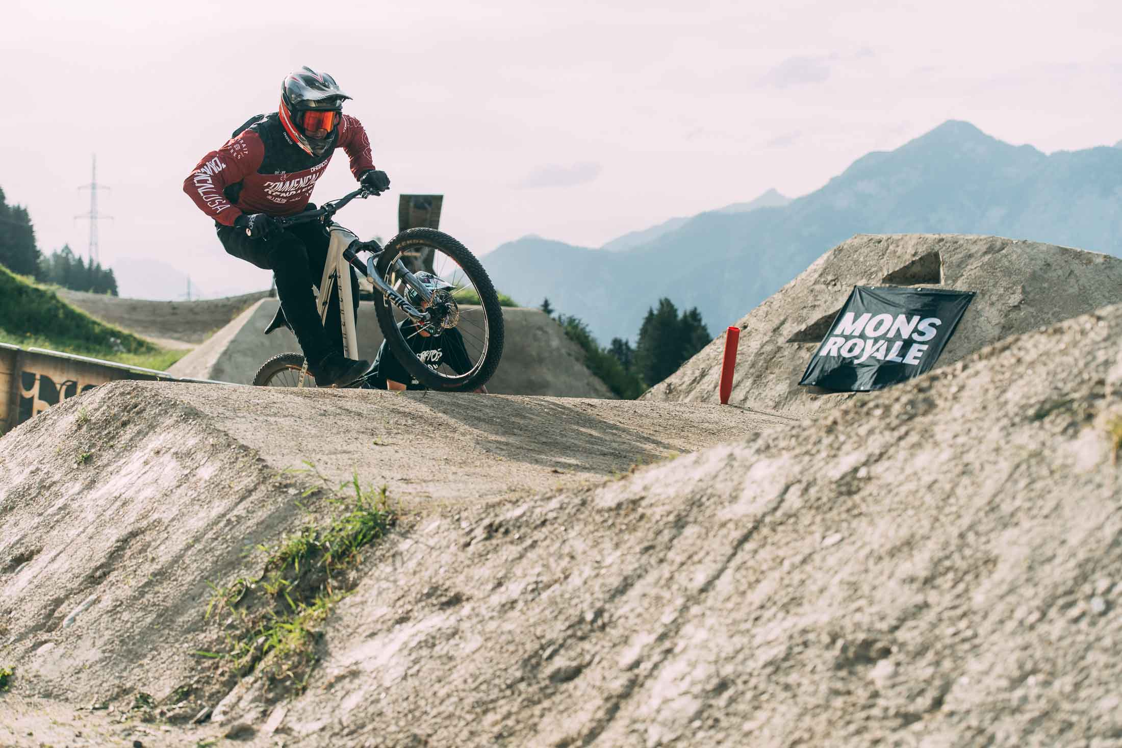 Kyle Strait at the Mons Royale Speed and Style at Crankworx Innsbruck