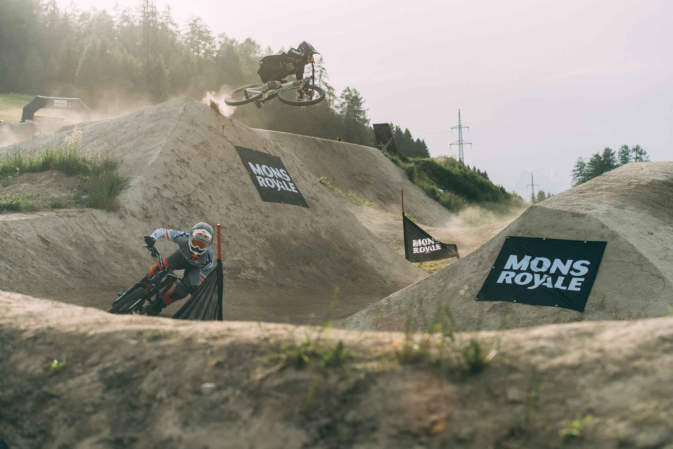 Competitors at the Mons Royale Speed and Style at Crankworx Innsbruck